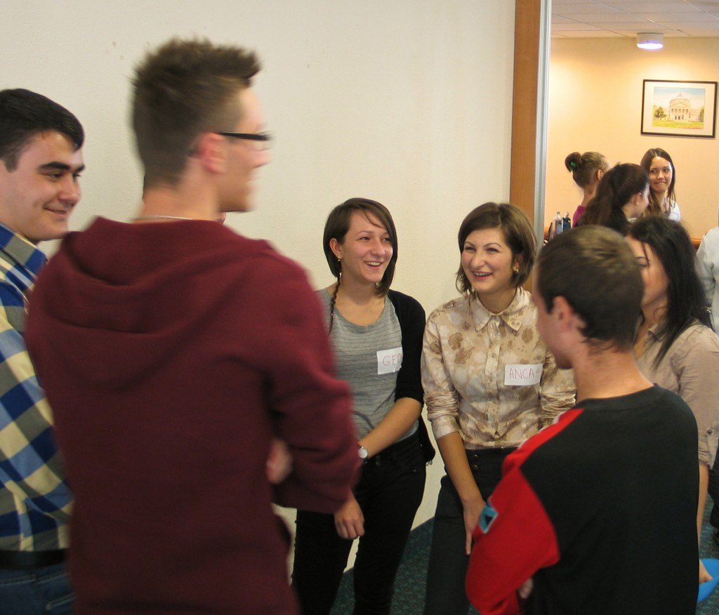 Students from the 5 high schools involved in the project - November 2012
