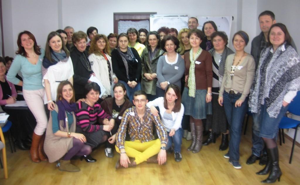 Echipa de profesori, elevi și părinți de la Colegiul Tehnic Câmpulung
