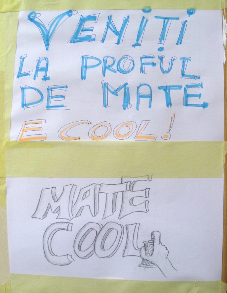 """Matematica poate fi """"cool"""" - Liceul Tehnologic """"Mecanica Fină"""" Bucuresti"""